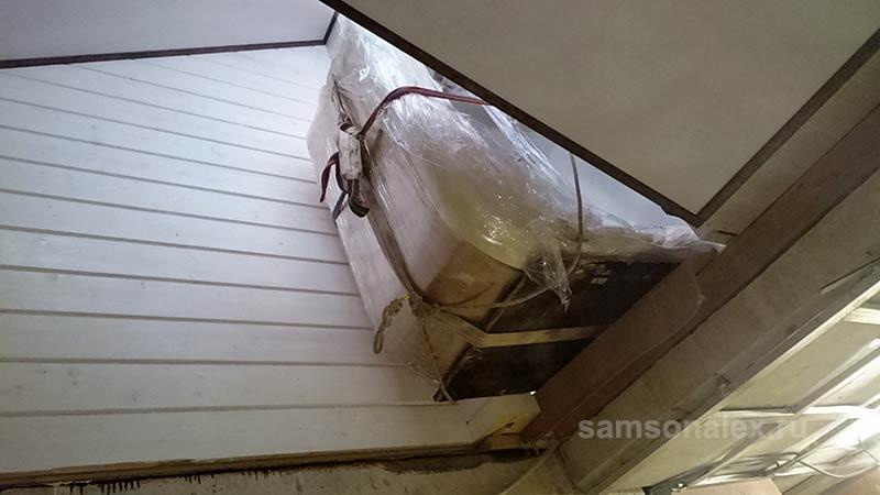 Заносим через крышу